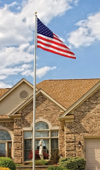 In-Ground Residential Flagpoles For Sale