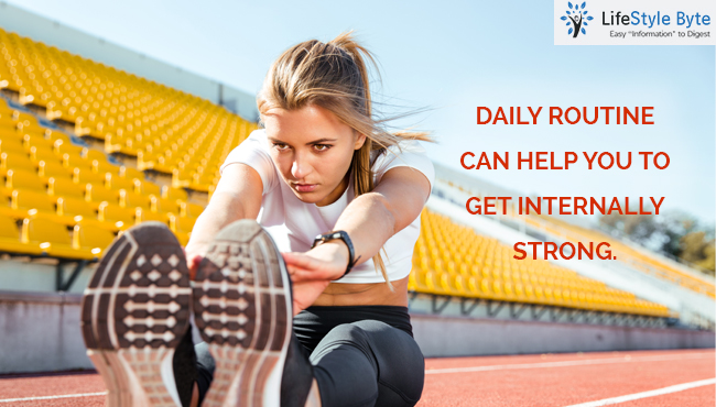 easy everyday routine for getting internally strong