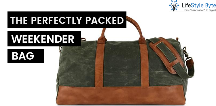 the perfectly packed weekender bag
